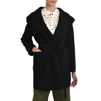 Marella Coat Fumetto-Black