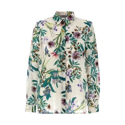 Marella Shirt Boario Patterned Silk Straight Fit-Lilac