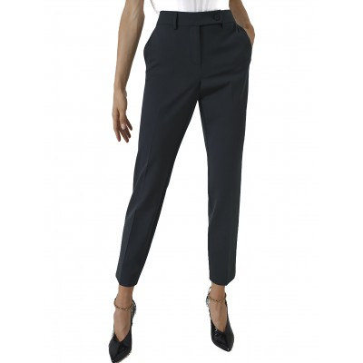 Marella Trousers Cigarette Isba-Dark Green