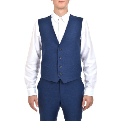 Bizzaro Gilet Linen-Blue