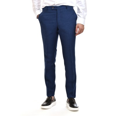 Bizzaro Trousers Linen-Blue