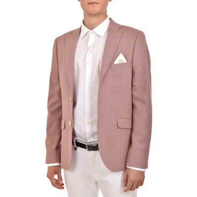 Bizzaro Blazer Micro-Pattern 775/2-Bordeaux/White
