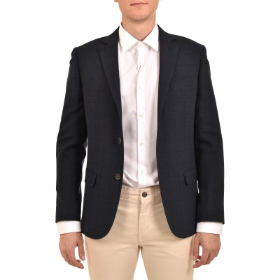 Bizzaro Blazer Checked-Dark Blue
