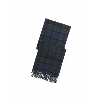 Polo Ralph Lauren Scarf Fringe Tartan Wool-Black Watch/Navy/Green