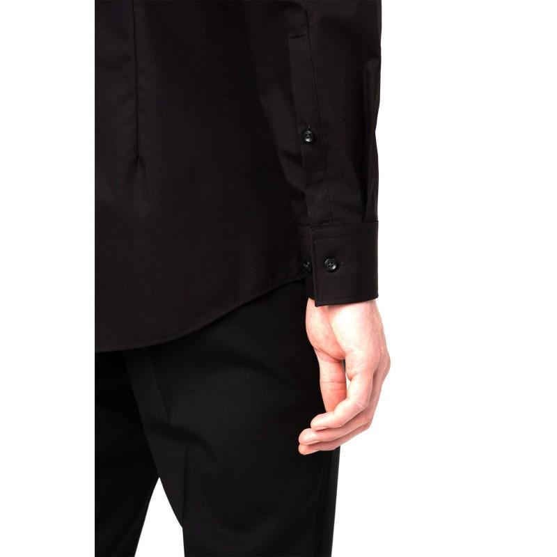 Hugo Shirt Business In Cotton Poplin-Black