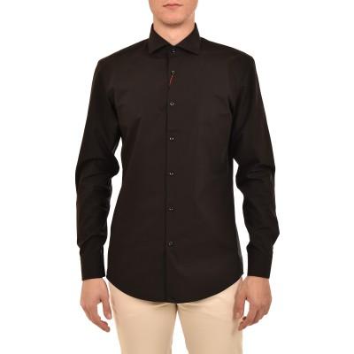 Hugo Boss Shirt Slim Fit With Extra Long Sleeves-Black