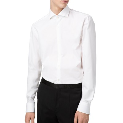 Hugo Boss Shirt Slim Fit With Extra Long Sleeves-White