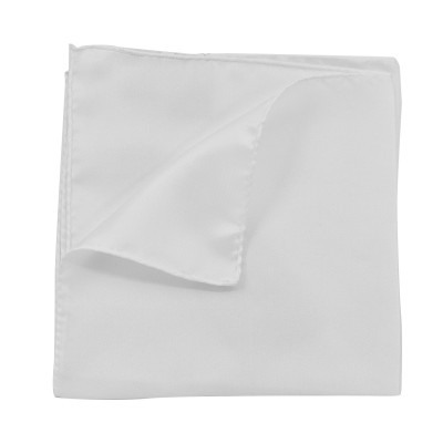 Hugo Pocketsquare In Pure Silk 33x33 cm-Open White