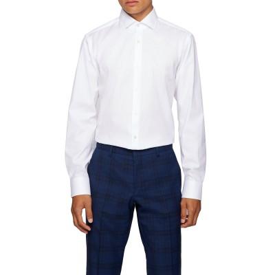 Boss Shirt Business Regular Fit In Cotton Twill Gordon-White