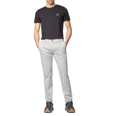 Hugo Boss Pants Chinos Slim Fit  In Brushed Stretch Cotton-Grey