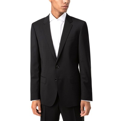 Hugo Boss Blazer Slim Fit In Virgin Wool Poplin-Black