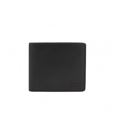 Hugo Boss Wallet Billfold In Smooth Nappa Leather-Black