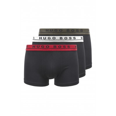 Boss Trunks Three-Pack In Strech Cotton-Black