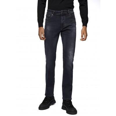 Boss Jeans Regular Fit In Super Strech Overdyed Denim-Dark Blue