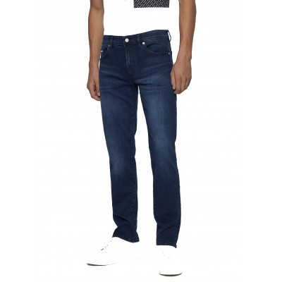 Boss Jeans Regular Fit In Dark Blue Super Strech Denim-Dark Blue