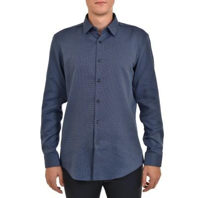 Boss Shirt Slim Fit Easy Iron Micro-pattern-Navy