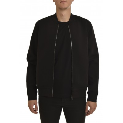 Hugo Bomber Jacket Relaxed Fit In Cotton-Blend Jersey