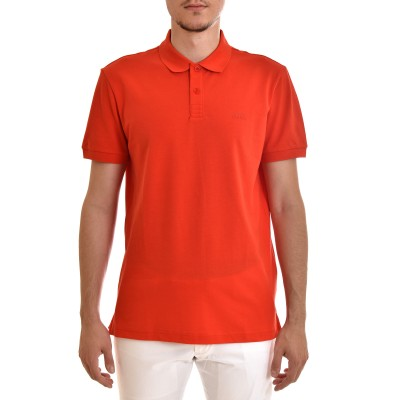 Boss Polo In Cotton Pique Regular Fit-Red
