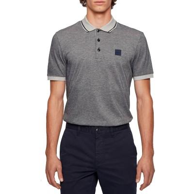 Boss Polo Regular Fit In Melagne Cotton-Light Blue