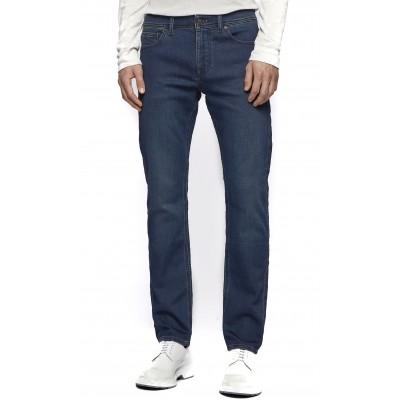 Boss Jeans Slim Fit In Dark Blue Knitted Denim-Blue