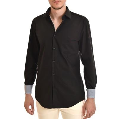 Hugo Shirt Slim Fit In Cotton Poplin-Black