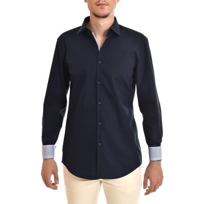 Hugo Shirt Slim Fit In Cotton Poplin-DK Blue