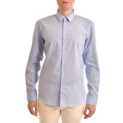 Boss Shirt Micro-Pattern Dots Regular Fit-Light Blue