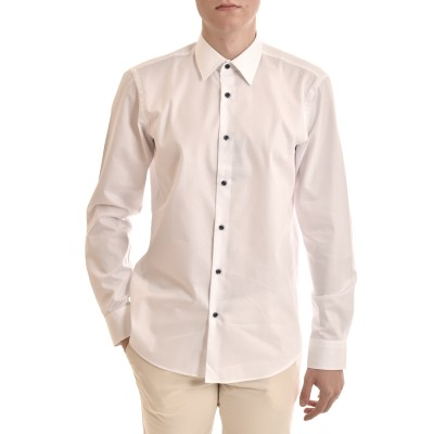 Boss Shirt Regular Fit Easy Iron-White