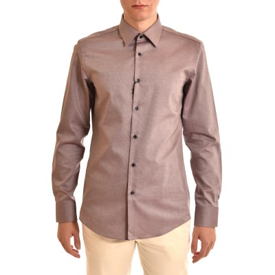 Boss Shirt Micro-Pattern Slim Fit-Bordeaux