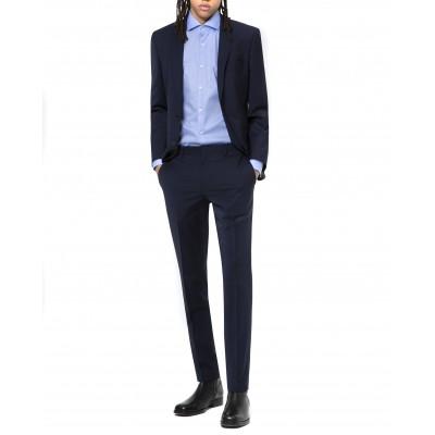 Hugo Boss Suit Slim Fit In Wool-rich Performance Stretch Cloth-Dark Blue