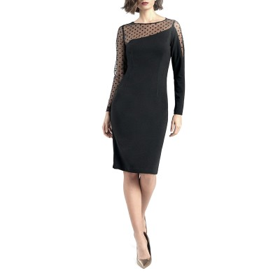 Forel Dress See-Trought Detail-Black