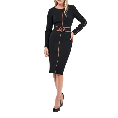 Forel Dress Tabac Details-Black