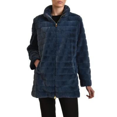 Forel Jacket Fur Faux-Blue