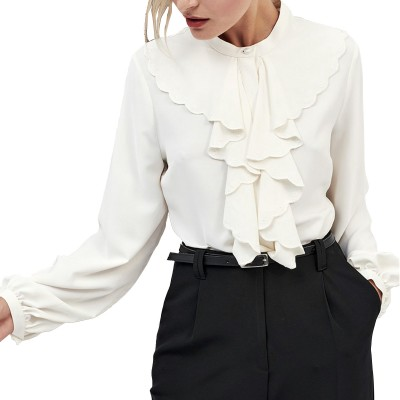 Forel Shirt Frill Breast-Ecru