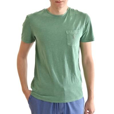 Polo Ralph Lauren T-Shirt With Pocket M Classics Custom Slim Fit-Green