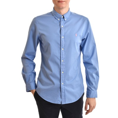 Polo Ralph Lauren Shirt Slim Fit Feather Weight Twill-Blue