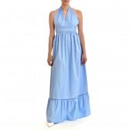 Twenty-29 Dress Maxi With Open Back-Light Blue