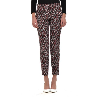 Twenty-29 Trousers Embossment Pattern-Black