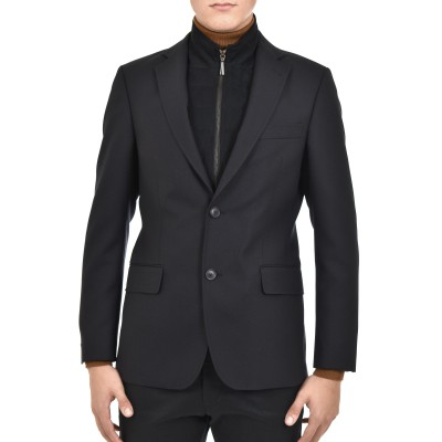 Bizzaro Blazer Removable Vest-Dark Blue