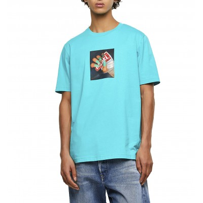 Diesel T-Shirt With Photo Print-Azure