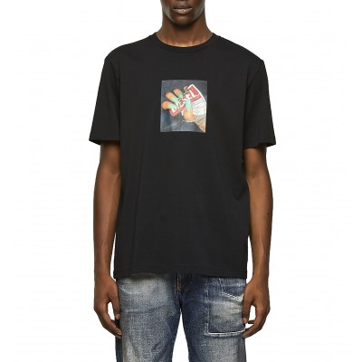 Diesel T-Shirt With Photo Print-Black