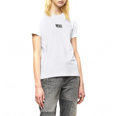 Diesel T-Shirt T-Sily Smallogo 3D Slim Fit-White