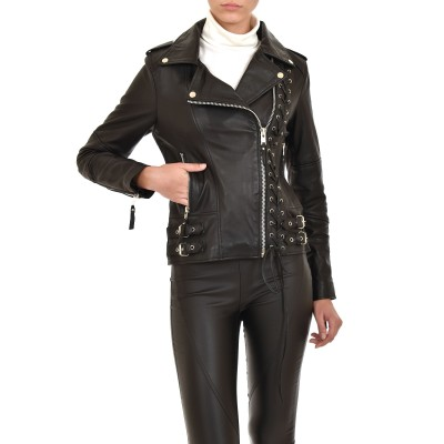Alma Libre Leather Jacket-Black