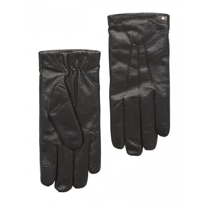 Tommy Hilfiger Gloves Flag Leather-Black