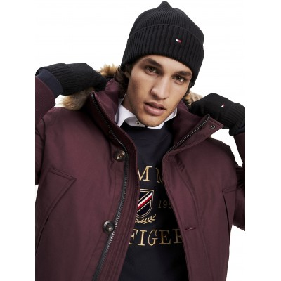 Tommy Hilfiger Beanie & Gloves Pima Cotton GP-Black