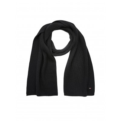 Tommy Hilfiger Scarf Pima Cotton Embroidery Rib-Knit-Black