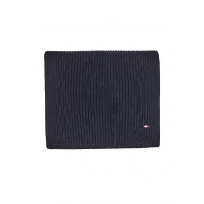 Tommy Hilfiger Scarf Pima Cotton Embroidery Rib-Knit-Desert Sky