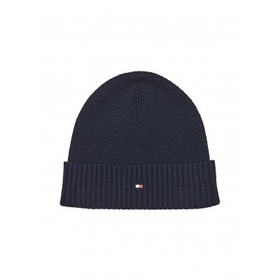 Tommy Hilfiger Beanie Pima Cotton Blend Flag Embroidry-Desert Sky