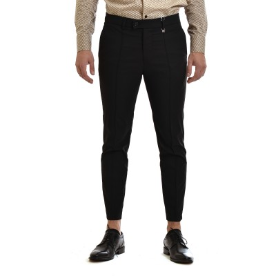 Vittorio Pants Barre Seams-Black