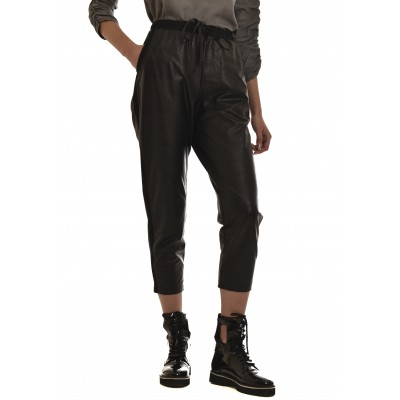 Lotus Eaters Pants Bizou Faux Leather-Black